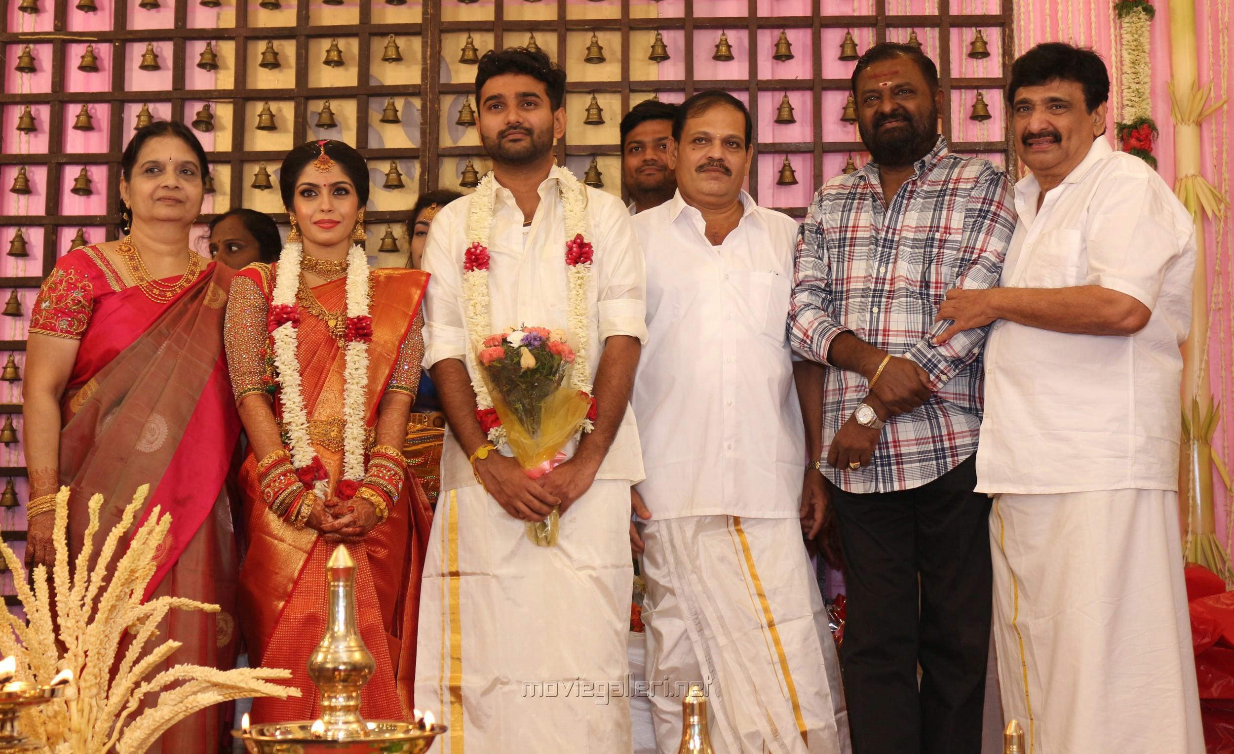 Pl Thenappan @ Ramesh Kanna Son Jashwanth Kannan Priyanka Marriage Photos