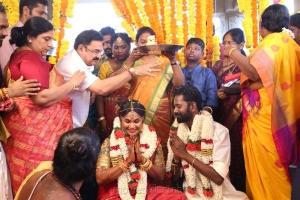 Sripriya, Rajkumar Sethupathi @ Ramesh Thilak Navalakshmi Marriage Photos