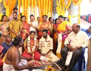 Rambo Rajkumar @ RJ Ramesh Thilak Navalakshmi Marriage Photos