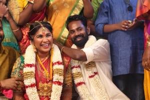 Actor Ramesh Thilak RJ Navalakshmi Marriage Photos