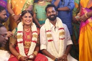 RJ Ramesh Thilak Navalakshmi Marriage Photos