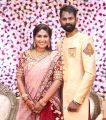 Actor Ramesh Thilak Navalakshmi Wedding Reception Stills