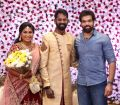Actor Sibiraj @ Ramesh Thilak Navalakshmi Wedding Reception Stills