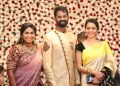 Actress Gayathri Shankar @ Ramesh Thilak Navalakshmi Wedding Reception Stills