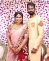 RJ Navalakshmi Ramesh Thilak Wedding Reception Stills
