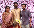 Santhosh Prathap @ Ramesh Thilak Navalakshmi Wedding Reception Stills