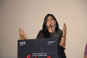 Actress Ramya Nambeesan Images @ Seethakaathi Press Meet