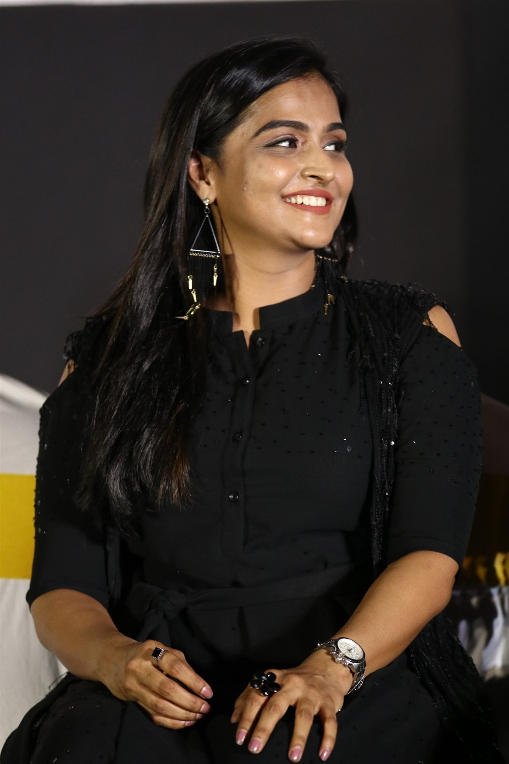 Plan Panni Pannanum Actress Ramya Nambeesan Black Dress images