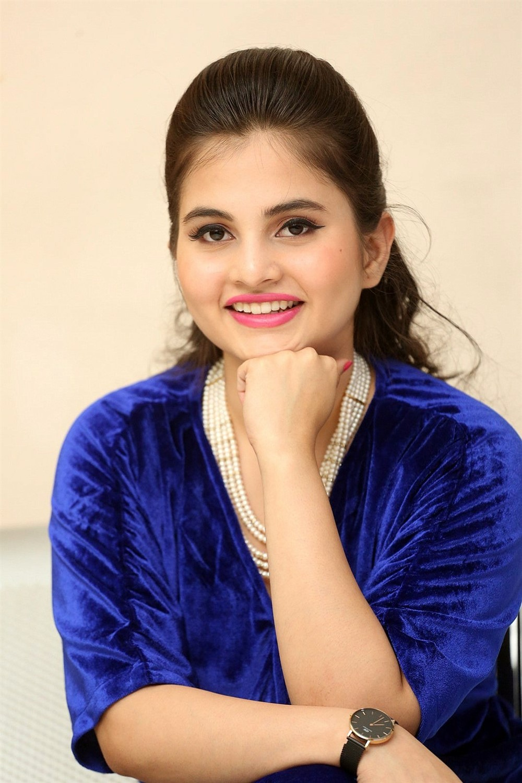Telugu Actress Ramya Pasupuleti Images in Blue Dress