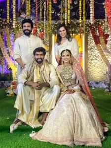 Ram Charan, Upasana Kamineni Konidela @ Rana Daggubati Miheeka Bajaj Wedding Photos