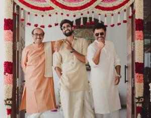 D Suresh Babu, Venkatesh @ Rana Daggubati Miheeka Bajaj Marriage Images