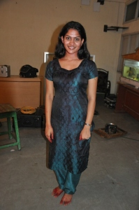 Tamil Actress Swasika at Ranam Movie Shooting Spot Stills