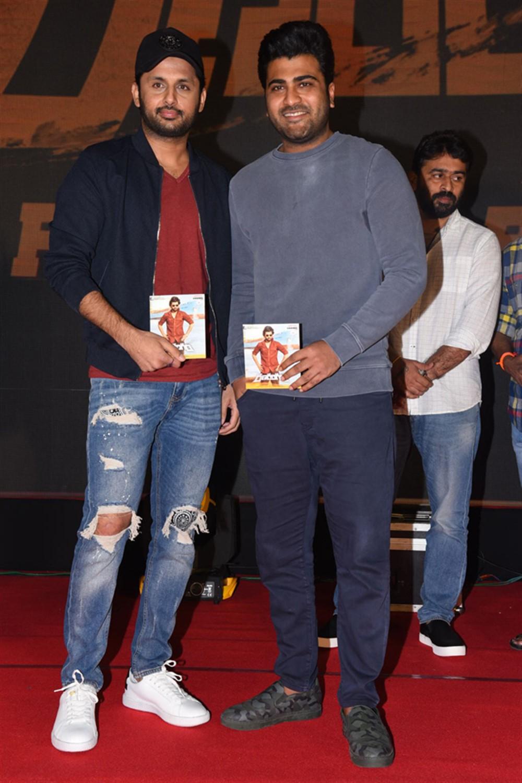 Nithin, Sharwanand @ Ranarangam Pre-Release Event Stills
