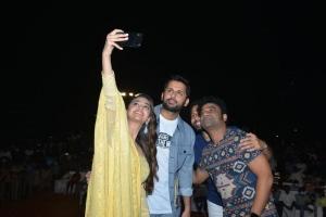 Keerthy Suresh, Nitin, Devi Sri Prasad @ Rang De Grand Release @ Rajahmundry Photos