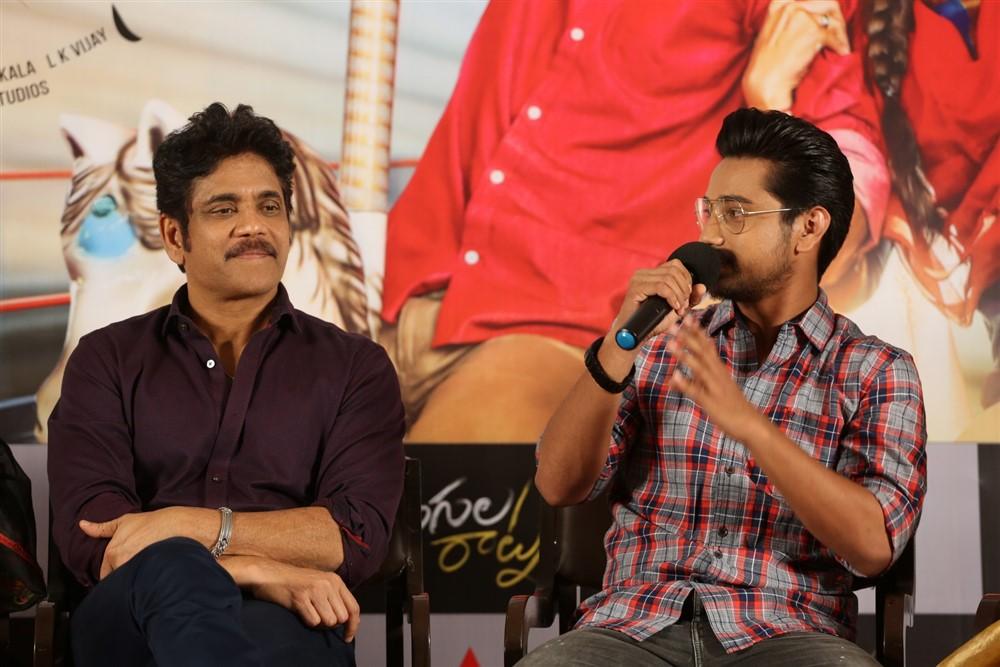 Nagarjuna, Raj Tarun @ Rangula Ratnam Movie Pre Release Event Stills