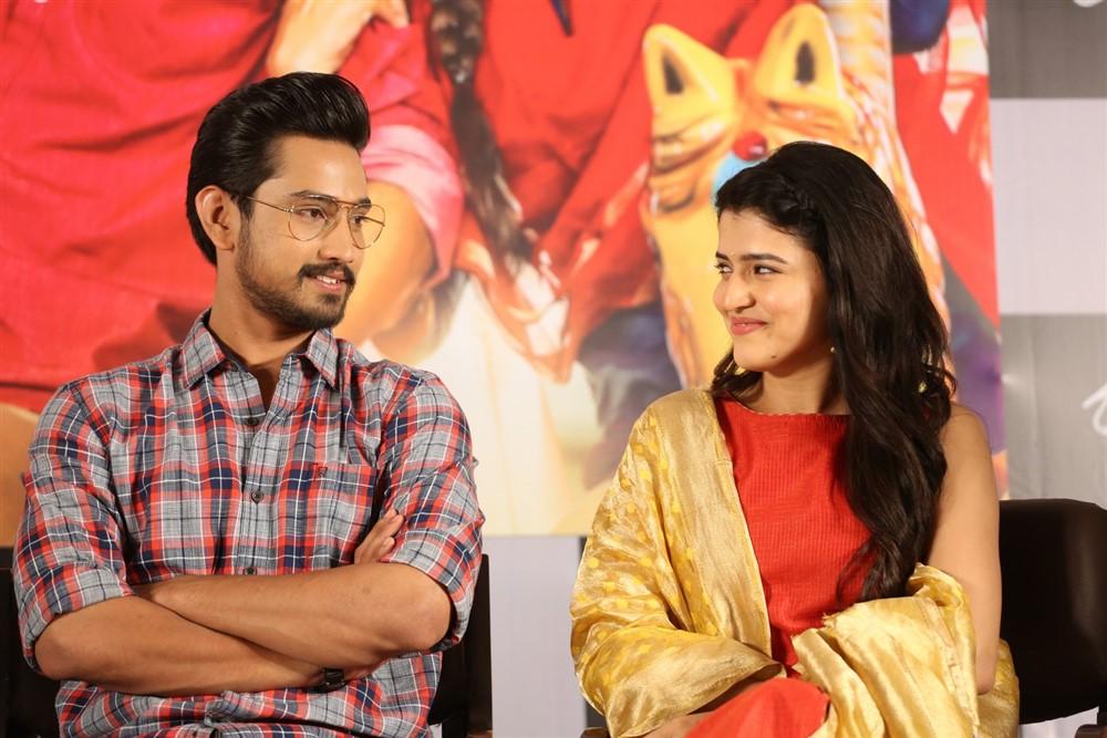 Raj Tarun, Chitra Shukla @ Rangula Ratnam Movie Pre Release Event Stills