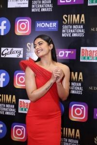 Actress Rashmika Mandanna Red Dress Pics @ SIIMA Awards 2021