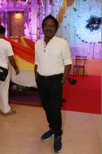 P Bharathiraja @ Radhika Sarathkumar's daughter Rayanne Hardy Marriage Photos