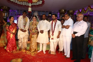 Vairamuthu, AVM Saravanan @ Radhika Sarathkumar's daughter Rayanne Hardy Marriage Photos