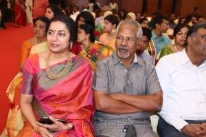 Suhasini, Manirathnam @ Radhika Sarathkumar's daughter Rayanne Hardy Marriage Photos