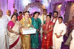 AIADMK Sasikala Natarajan @ Radhika Sarathkumar's daughter Rayanne Hardy Marriage Photos