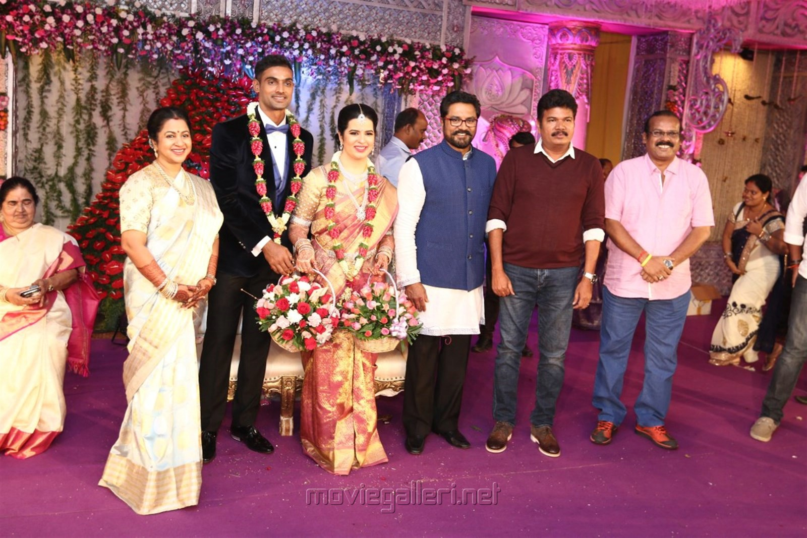 Shankar, A Venkatesh @ Radhika Sarathkumar's daughter Rayanne Hardy Marriage Photos