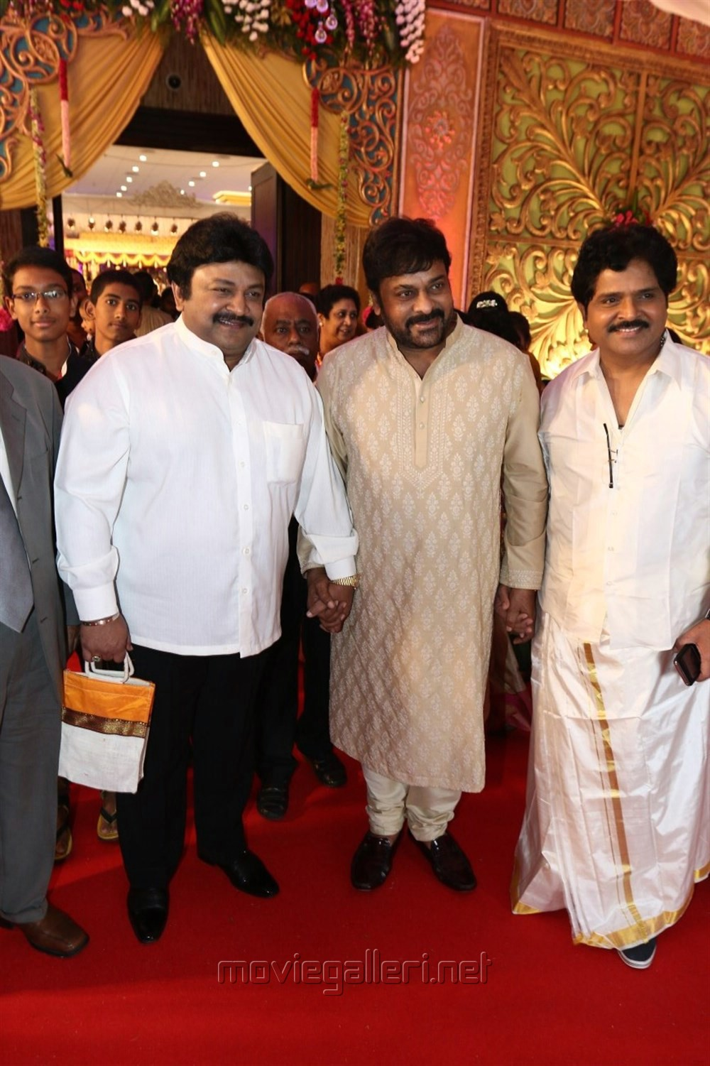 Prabhu, Chiranjeevi, Ramki @ Radhika Sarathkumar's daughter Rayanne Hardy Marriage Photos