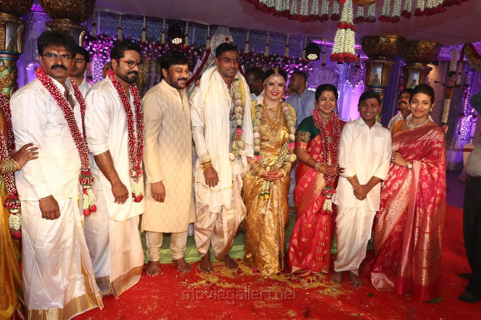 Chiranjeevi @ Raadhika Sarathkumar's daughter Rayanne Hardy Marriage Photos
