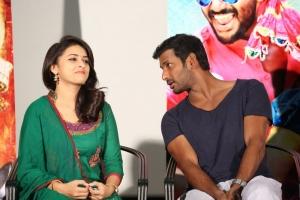 Sri Divya, Vishal @ Rayudu Movie Team Meet Stills