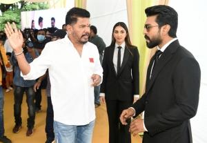 Shankar, Kiara Advani, Ram Charan, RC15 Movie Pooja Stills