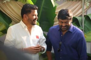 Chiranjeevi @ RC15 Shankar Ram Charan Movie Pooja Stills