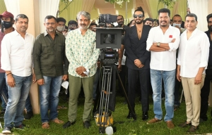 SS Rajamouli @ RC15 Shankar Ram Charan Movie Pooja Stills