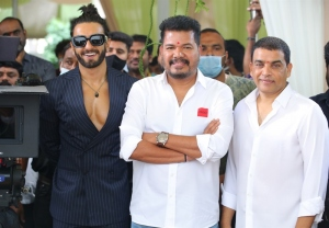 Ranveer Singh, Dil Raju @ RC15 Shankar Ram Charan Movie Pooja Stills