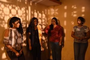 Meghana Raj, Ragini Dwivedi, Deepti, Samyukta Hornad in Real Dandupalyam Movie Stills