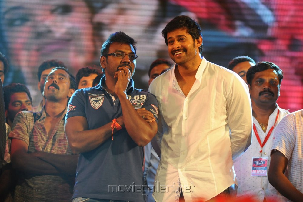 Rebel Movie New Stills: Raghava Lawrence, Prabhas At Rebel Audio