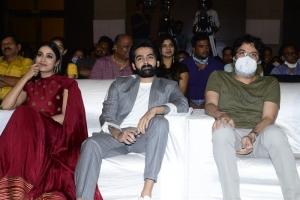 Nivetha Pethuraj, Ram Pothineni, Trivikram Srinivas @ Red Movie Pre Release Event Stills
