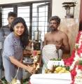 Actress Samyukta Hornad @ Redrum Movie Pooja Stills