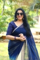 Tamil Actress Rekha in Blue Saree Images HD