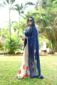 Tamil Actress Rekha HD Images in Blue Saree