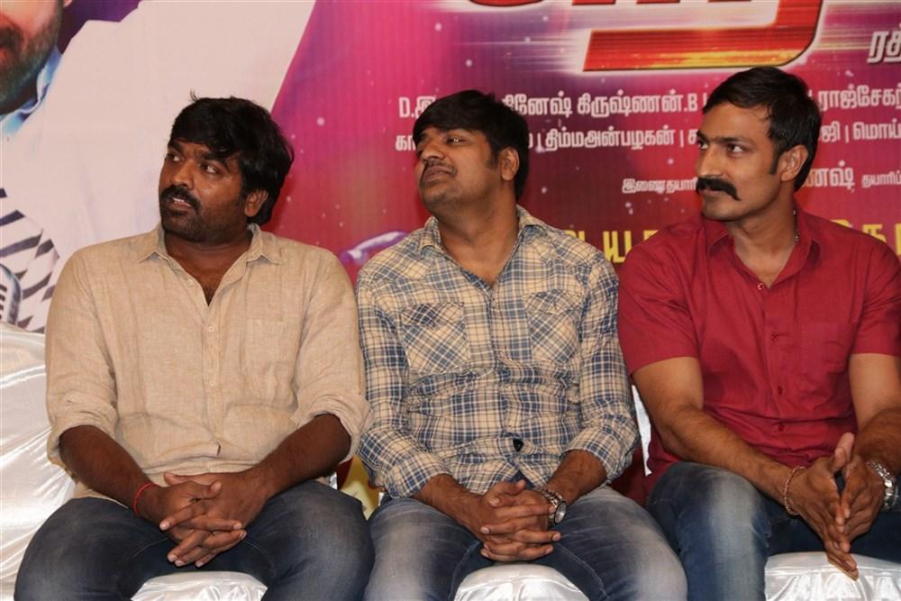 Vijay Sethupathi, Sathish, Harish Uthaman @ Rekka Movie Press Meet Stills