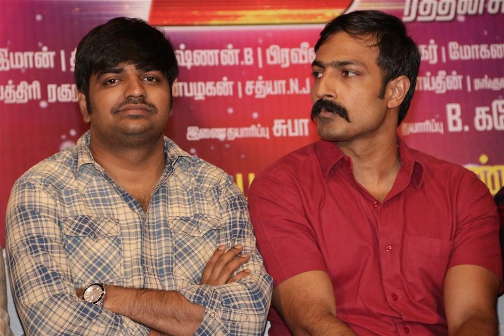 Sathish, Harish Uthaman @ Rekka Movie Press Meet Stills