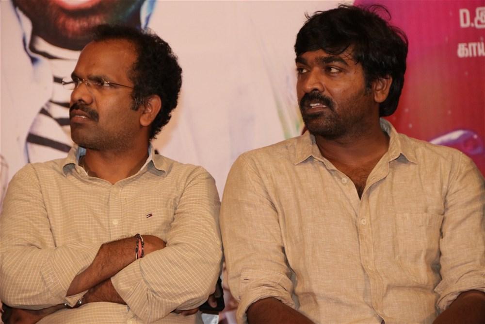 B Ganesh, Vijay Sethupathi @ Rekka Movie Press Meet Stills