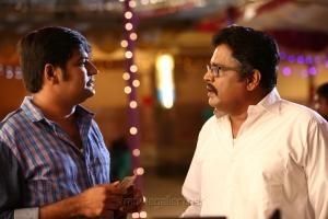 Sathish, KS Ravikumar in Rekka Movie Stills