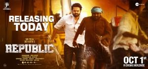 Jagapathi Babu, Sai Dharam Tej, Ramya Krishnan in Republic Movie Release Today Posters