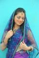 Actress Reshma in Purple Saree Photo Shoot Stills