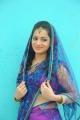 Actress Reshma in Violet Saree Photo Shoot Stills