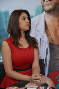 Actress Richa Gangopadhyay in Mirchi Red Dress Photos