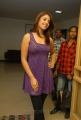 Richa Gangopadhyay Hot Pics in Violet Color Dress at Radio Mirchi, Hyderabad