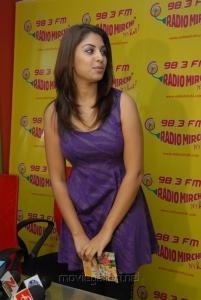 Richa Gangopadhyay Hot Pics in Violet Color Dress at Radio Mirchi, Hyderabad