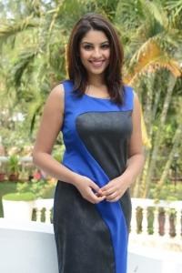 Actress Richa Gangopadhyay New Hot Photos in Blue Sleeveless Dress